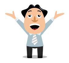 Free Happy Businessman Stock Image - 18952381