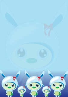 Free Bunny Blue Wallpaper Stock Photography - 18952502