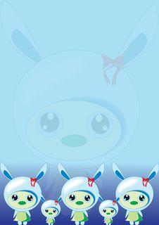 Bunny Blue Wallpaper Stock Photography