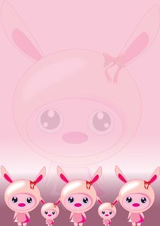 Free Bunny Pink Wallpaper Stock Photo - 18952540