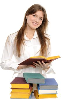 Free Student Girl With Books Stock Photos - 18952623