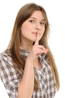 Free Woman Says Ssshhh Stock Photos - 18952683
