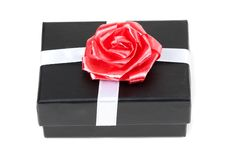 Free Black Gift Box With Bow Stock Images - 18953934