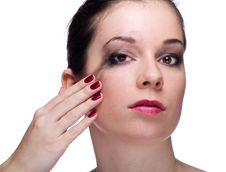 Free Girl With Smeared Makeup Stock Image - 18954151