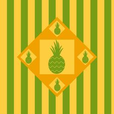 Free Cute Pineapple Background Royalty Free Stock Images - 18954749