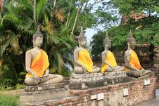 Four Buddha Images Royalty Free Stock Photos