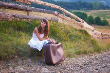 Free Countryside Traveler Girl Stock Photos - 18955643
