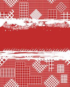 Free Grunge Red Background With White Cages Royalty Free Stock Images - 18955699