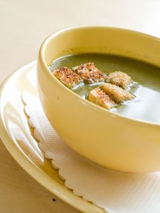 Free Spinach Soup Royalty Free Stock Images - 18956249