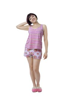 Young Woman In Pajamas Royalty Free Stock Photography
