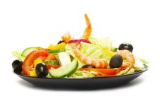Free Salad On White Royalty Free Stock Image - 18958526