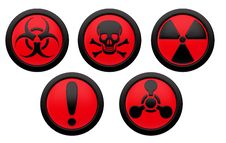 Free Icons With Symbols Of Hazard. Stock Images - 18959434