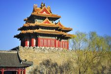 Free Beijing Forbidden City Gate Tower Stock Photography - 18959942