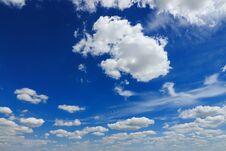 Free Clouds In The Blue Sky Royalty Free Stock Images - 189515169