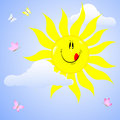 Free Smiling Sun. Stock Photography - 18960242