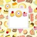 Free Cartoon Cake Card Stock Photography - 18961562