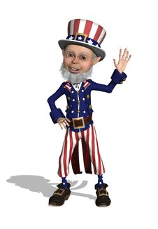 Uncle Sam Waving Royalty Free Stock Images