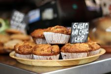 Free Ginger And Choc Chip Muffins Royalty Free Stock Image - 18960466
