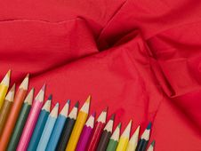 Free Colour Pencils Royalty Free Stock Photo - 18960475