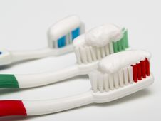 Free Toothbrushes Royalty Free Stock Photography - 18960507