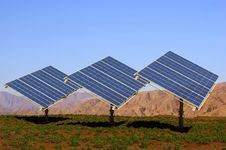 The Solar Battery Royalty Free Stock Photography