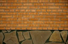 Free A Wall Of Brick And Stone Royalty Free Stock Images - 18961139