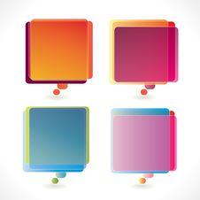 Free Colorful Rectangular Speech Bubbles Stock Photos - 18961343