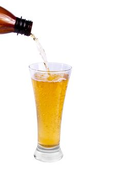 Pouring Beer Royalty Free Stock Photo