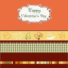 Free Vintage Valentine S Day Card Stock Photos - 18961733