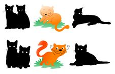 Free Cats Silhouette Stock Photos - 18961953