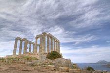 Free Temple Of Poseidon In Sounio Royalty Free Stock Image - 18961996