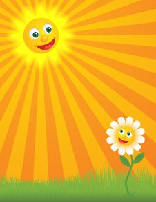 Free Happy Sunny Background Royalty Free Stock Images - 18962219