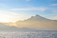 Free Beautiful View On Alps Mountains And Big Lake Royalty Free Stock Photo - 18962445
