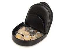 Free Purse With Coins Stock Photo - 18962560
