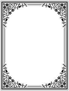 Free Vintage Floral Frame Stock Photo - 18962570