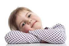 Free Little Girl Is Siting Stock Photos - 18962673