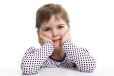 Free Little Girl Is Siting Stock Photos - 18962693