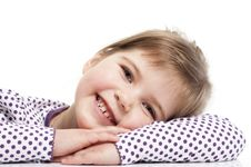 Free Little Girl Is Siting Stock Image - 18962701