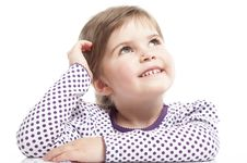 Free Little Girl Is Siting Stock Images - 18962704