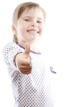 Free Little Girl Showing Thumb Up Stock Image - 18962731