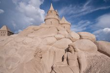 Free Sand Castle And Sculpture. Royalty Free Stock Photos - 18963098