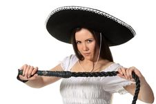 Free Mexican Girl Royalty Free Stock Photography - 18963377