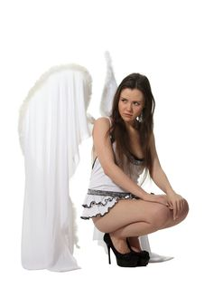 Free Sad Angel Royalty Free Stock Photos - 18963388