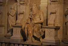 Free Rome - The Moses (Michelangelo) Royalty Free Stock Photography - 18963637