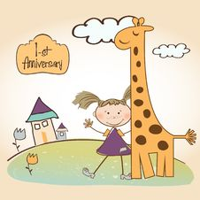Free First Anniversary Card Stock Images - 18963934