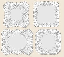 Free Set Vintage Frames Royalty Free Stock Photography - 18964047