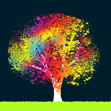 Free Abstract Colorful Tree. EPS 8 Royalty Free Stock Photos - 18964288
