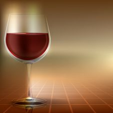 Free Abstract Illustration With Wineglass Royalty Free Stock Image - 18964866