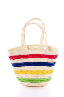 Free A Colorful Empty Straw Bag Stock Photography - 18965082