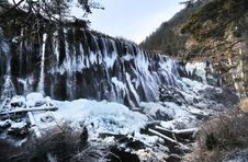 Free Waterfall In Winter, Jiuzhaigou, China Royalty Free Stock Photography - 18965117